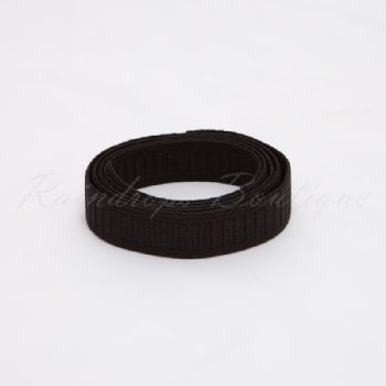 Black Non Roll Elastic by the Metre 20mm